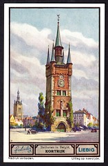 Liebig Tradecard S1330 - Kortrijk (cigcardpix) Tags: church bells vintage advertising belgium ephemera liebig tradecards