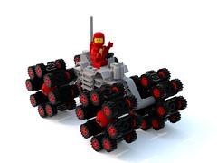 Maraisian Rover (David Roberts 01341) Tags: lego rover scifi buggy allterrain minifigure ldd classicspace febrovery bluerender
