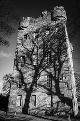 Alloa Tower (Matt 82) Tags: uk winter bw sunlight tower castle heritage history monochrome architecture contrast scotland nikon europe highlander scottish atmosphere naturallight monuments clan fortress d800 zoomlens towerhouse alloa centralscotland forthvalley scottishhistory visitscotland cityofglasgowcollege matt82 nikkorafs2485mmf3545edvr