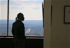 Docent (LarryJay99 ) Tags: man male men guy weather silhouette museum goatee glasses shadows florida horizon guys dude ponytail facialhair mustache blackman tallahassee dudes photostream longhaired docent canonpowershots110 faceprofile floridastatecapital 52260mm ilobsterit