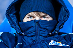 Winter sports. Football. Russia. (N'Z) Tags: blue winter portrait people man game sports sport canon football eyes photographer play russia ninja fifa soccer nike ucl hide 94 fc uefa championsleague rus      nikefootball  canongallery     cannonrussia  whereisfootball    nikerussia
