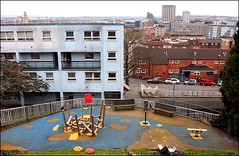 View From Dove Street (Canis Major) Tags: playground bristol horizon viewpoint stpaulschurch citycentre dovestreet castlemead