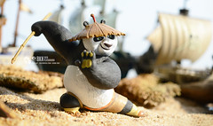 Kung Fu Panda (Thai Toy Photographer) Tags: sunlight anime beach hat movie toys model panda ship outdoor cartoon kungfu figure po figurine figures toyphotography dreamwork kungfupanda