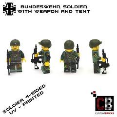 Lego CB Bundeswehr Soldat Minifigur Zelt Waffe 03 (LA-Design2012) Tags: army us force lego wwii tent special german ww2 afrika minifig custom zelt sandbags deutsche bundeswehr moc wehrmacht sandscke afrikakorps soldate custombricks