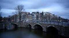 Amsterdam at dusk (Yann OG) Tags: longexposure bridge cloud house amsterdam canal dusk filter pont nuage maison crpuscule 169 filtre nd400 canaux poselongue