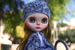 FA (zsofianyu) Tags: blue winter summer green eye hat shop for eyes knitting doll sale handmade ooak coat country crochet chips clothes jacket blythe neo freckles etsy custom takara seller tomy fa adoption faceup eyechips puppelina
