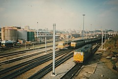 Norwich, October 1987 (Dai Lygad) Tags: railroad travel electric photography photo october flickr image diesel 1987 transport picture rail railway photograph norwich vehicle locomotive 1980s railways britishrail railroads class86 class47 class31 summersaturday clarenceroad locohauled lescheminsdefer lestrains yarmouthtonewcastle jeremysegrott dailygad greatyarmouthtonewcastle