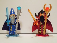 Ice & Fire (Nilbog Bricks) Tags: ice fire lego witch wizard magic spell fantasy enchanter minifig custom mage warlock sorcerer minifigures conjuror wizardess brickarms brickforge brickwarriors