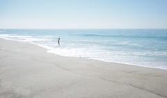 Solo at Westward Beach (elevatoro) Tags: ocean california blue sky woman west beach water coast waves pacific rad sunny malibu minimal solo serene lonely spare splash beachy scouting justinleibow elevatoro