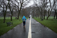 Passing through the Meadows in the Snow (DTB) Tags: street uk trees winter snow scotland xpro edinburgh fuji none unitedkingdom path fujinon themeadows marchmont fujixpro1 fujinonxf23mmf14r