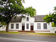 Cape Dutch Building (goodbyetrouble) Tags: africa house building dutch architecture south haus western architektur cape gebäude südafrika stellenbosch afrikaans kapholländisch