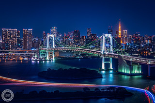 Cityscape of Tokyo Bay Area by Night