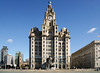 Midday @ Royal Liver Building (moz278) Tags: architecture liverpool pierhead royalliverbuilding 3graces