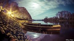 Vienne par pleine lune (Bruno. Thom) Tags: france fisheye paysage smc vienne barque chinon pleinelune indreetloire 1017mm pentaxk5