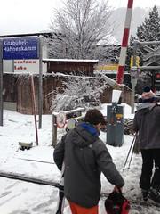 Passage de la voie ferre  Kitzbhel-Hahnenkamm (Jauss) Tags: ski alps alpes sterreich neige alpen tyrol autriche kitzbhel