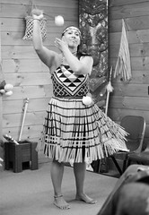 Poi (Jim Davies) Tags: newzealand slr film monochrome analog 35mm photography rotorua dancers kodak ceremony olympus om10 northisland analogue aotearoa whakarewarewa 400asa bw400cn c41 chromogenic mori veebotique