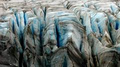 The Blue Zone (Dru!) Tags: blue brown white canada ice broken bc britishcolumbia gray glacier melt mitchell icy crevasse cracked glacial coastmountains hydrology glaciated crevasses serac boundaryranges seabridgeaugust