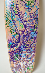 Teratoiid Custom Board - Drunkoiid (Teratoiid) Tags: black monster illustration drunk ink boards noir board bruxelles na homemade alcool alcohol skate skateboard linocut vodka monsters creator custom skateboards skates encre monstre noire linogravure illustrateur crateur monstres minicruiser zdrowie teratoiid drunkoiid
