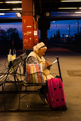 (vgisti) Tags: street city portrait people travelling station time budapest railway age