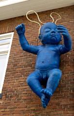 Kunst Noordzeestraat Deventer (FaceMePLS) Tags: baby art kunst nederland thenetherlands streetphotography deventer kunstwerk beeldendekunst straatfotografie kunstobject facemepls canonpowershots100 gevelkunst kunstaandegevel