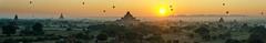 Magic Bagan (m_haefeli) Tags: panorama sunrise balloons temple pagoda nikon pano magic panoramic temples myanmar archaeological sonnenaufgang zone pagan pagodas bagan tempel pagode dhammayangyi 7000 magisch pagoden oldbagan baganarchaeologicalzone d7000