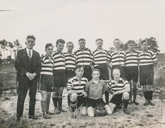 Sports team posing for a portrait