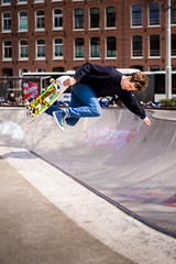 Action (miguel_lorente) Tags: park street city people man holland guy netherlands amsterdam jump movement action skate skateboard