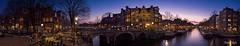 P3170430-PanoC (Vishari Beduk) Tags: blue panorama water amsterdam waterfront hour brouwersgracht