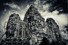 Angkor Thom (markchan0516) Tags: monochrome sepia cambodia angkorwat siemreap angkor angkorthom