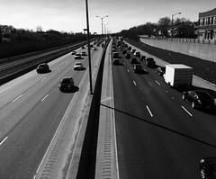 I-290 (Crawford Brian) Tags: oakpark oak park chicago highway expressway car traffice bw blackandwhite monochrome blackwhite vanishingpoint
