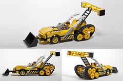 Emmet's Construct-o-Porsche (damoncorso) Tags: car movie fun toy toys construction funny lego racing porsche legos emmet