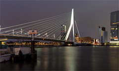 Erasmus bridge / Rotterdam 2016 (zilverbat.) Tags: city longexposure nightphotography bridge wallpaper water dutch night dark logo photography town rotterdam nightlights nightshot image postcard thenetherlands le brug kpn maas cinematic kopvanzuid hotspot afterdark erasmusbrug morsecode imago brucke spido unstudio benvanberkel rotjeknor citytrip lenight constructie rotterdambynight derotterdam asymmetrisch stalen citybynight maasoever verbinding pyloon beeldmerk tuibrug maasstad zilverbat zuidoever brugdek stadaandemaas longexposurebynight photographybynight longexposurenetherlands
