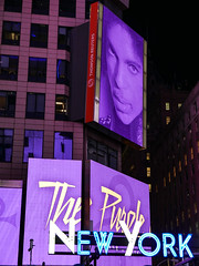 Times Square's Tribute to Prince (Rekishi no Tabi (back & catching up)) Tags: nyc newyork prince timessquare