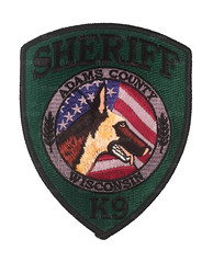 Adams County Sheriff K9 (Patch Collector) Tags: wi wisconsin police sheriff patch swat subdued county florence eau claire badge clark dodge columbia jefferson dane chippewa adams k9 marquette polk brown explorer metro drug enforcement