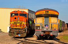 "Mid-America Car in Kansas City, MO (""Righteous"" Grant G.) Tags: city railroad car train star coach power pacific union trains missouri kansas lone locomotive passenger bnsf emd"