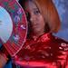 DSC_0274 Somali Lady Portrait Red Chinese Silk Mandarin Dress  Shoreditch Studio London