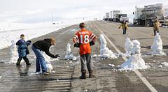 Road Is Closed (wyojones) Tags: winter snow storm boys fun snowman snowmen wyoming winterstorm lander redcanyon southpass wyojones snowmenbuilders snowmanfanily southpasshighway wyoming28