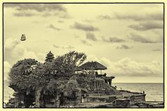 Tanah Lot Temple, Bali (Rajan Raju) Tags: bw bali landscape tanahlottemple