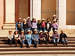 Wild West - Country  Calafell (2) (calafellvalo) Tags: west dance spain country folklore calafell catalonia msica wildwest flamenco garraf sevillanas danzas farwest lunares calafellvalo vilanovailageltr airesdelsur kaoboi plaadelesneus countrycalafellvilanovageltrsevillanascalafellvalobailesfolklore countrycalafell