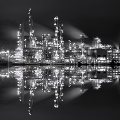 White Light/ White Heat (kenny barker) Tags: scotland refinery
