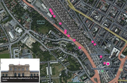 Kartenansicht: Mainz Hbf - Coworking M1