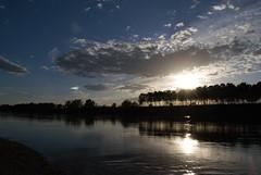 Il tramonto sul fiume (Carlo Cabrini) Tags: travel sunset panorama verde alberi reflex nikon tramonto nuvole foto blu fiume po fotografia artistica sole paesaggio riflesso foresta nuvoloso
