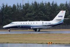 TC-TVA.EDI201215 (MarkP51) Tags: plane airplane scotland airport nikon edinburgh image aircraft aviation cessna 680 sovereign citation bizjet corporatejet d7200 tctva markp51