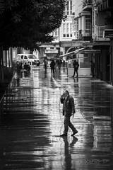 _JPX8601 (Xabier Pieiro) Tags: people bw byn rain contrast umbrella canon calle lluvia gente streetphotography bn contraste fujifilm streetphoto paraguas ferrol xseries oldfilm fd70210 xpro1