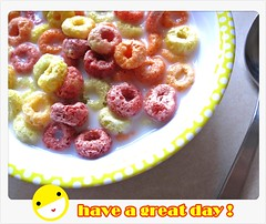 have a great day! (leonghong_loo) Tags: breakfast milk cereals kelloggs frootloops breakfastinsingapore