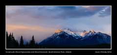 Sunset with Mount Inglismaldie and Mount Girouard, Banff National Park, Alberta (kgogrady) Tags: trees sunset snow canada mountains clouds landscape rockies spring nikon rocky noone ab nopeople alberta banff rockymountains nikkor fx d800 banffnationalpark canadianrockies 2016 westerncanada canadianmountains canadiannationalparks canadianlandscapes cans2s mountinglismaldie mountgirouard albertalandscapes d800e mtinglismalde mtgirouard nikon2470mmf28fxafsgednikkor canadianrockieslanscape