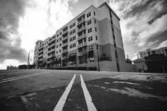 Address Uphill (rmehdee) Tags: building monochrome lines architecture canon downtown florida streetphotography shape address bnw leadingline