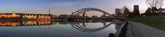Genesee River panorama (t55z) Tags: newyork river dawn rochester geneseeriver