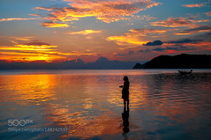 Another day in paradise (PhoenixRoofing164) Tags: ocean travel light sunset sea summer sky sun holiday seascape beach water beautiful lady clouds relax island boat fishing sand paradise burning moment koh enjoying pha vocation ngan