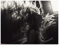 Ghost Light ! (lichtfusion.net) Tags: light portrait blackandwhite woman window girl monochrome beauty face mystery hair flow photography licht blackwhite nikon photographer dof action fenster ghost hamburg sigma dancer mysterious extension dust dslr bnw volumetric caucasian haare staub againstthelight rimlight intothelight d810 nikond810 sigmaart sigma3514art lichtfusionnet